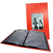 Álbum vermelho com visor para 300 fotos 10x15 cm