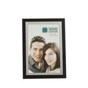 Porta retrato preto e prata 10x15 cm