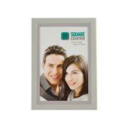 Porta retrato branco e prata 10x15 cm