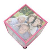 Cubo giratório rosa para 06 fotos 10x10 cm