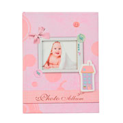 Álbum laço bebê rosa para 100 fotos 10x15 cm