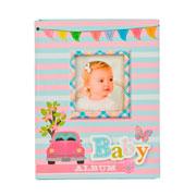 Álbum fusca bebê rosa para 100 fotos 10x15 cm