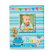 Álbum fusca bebê azul para 100 fotos 10x15 cm