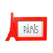 Porta retrato horizontal paris vermelho 15x10 cm