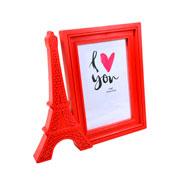 Porta retrato vertical paris vermelho 15x10 cm