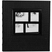 Álbum Couro sintetico preto para 400 fotos 10x15
