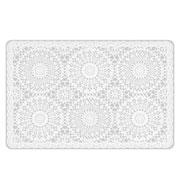 Lugar americano estampa crochê branco 43x28 cm
