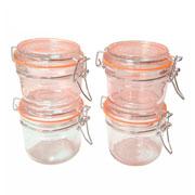 Conjunto de potes de mantimentos de vidro 04 peças