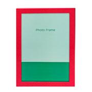 Porta retrato de metal liso vermelho 15x20 cm