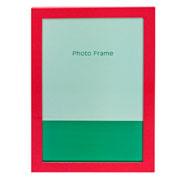 Porta retrato de metal liso vermelho 20x25 cm