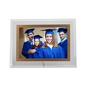 Porta retrato de vidro horiz filete dourado 10x15 cm
