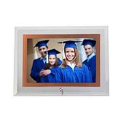 Porta retrato de vidro horiz filete rose 10x15 cm