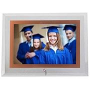 Porta retrato de vidro horiz filete rose 15x20 cm