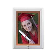 Porta retrato de vidro vert filete rose 10x15 cm