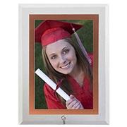 Porta retrato de vidro vert filete rose 15x20 cm