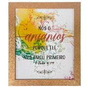 Porta retrato de madeira Dourado Glitter 15x20 cm