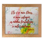 Porta retrato de madeira Dourado Glitter 13x18 cm