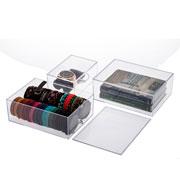 Caixa organizadora com tampa 16x11x07 cm