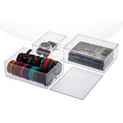Caixa organizadora com tampa 22x16x08 cm