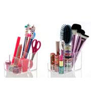 Organizador de cosméticos 03 divisorias 12x09x08 cm - Elegance