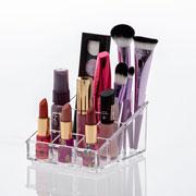 Organizador de cosméticos 07 divisorias 14x11x07 cm