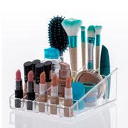 Organizador de cosméticos 12 divisorias 19x16x07 cm - Elegance