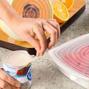 Kit com tampa herméticas silicone Pratic Chef colors 05 peças