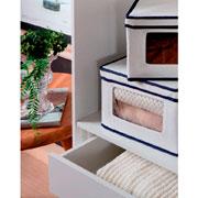 Cesto organizador concept com tampa 45x25x15 cm