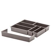 Organizador de Utensílios com extensor cinza 40x33x6,5cm