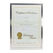 Porta certificado/diploma em metal A4 210x297 mm