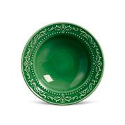 Prato de cerâmica fundo acanthus verde salvia 22 cm