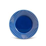 Prato para sobremesa plisse azul 20 cm