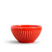 Bowl de cerâmica plisse vermelho 365 ml