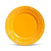 Prato de cerâmica raso acanthus mostarda 26 cm