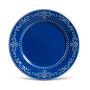 Prato de cerâmica raso acanthus azul 26 cm