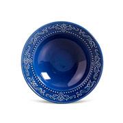 Prato de cerâmica fundo acanthus azul 22 cm
