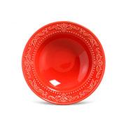 Prato de cerâmica fundo acanthus vermelho 22 cm
