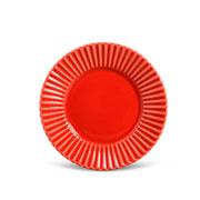 Prato para sobremesa plisse vermelho 20 cm