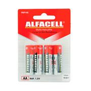 Pilha alfacell comum AA r6p cartela com 04 unidades