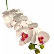 Orquidea branca com miolo rosa artificial 92 cm