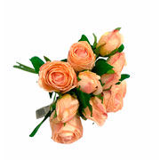 Buque de rosas com botão artificial 36 cm
