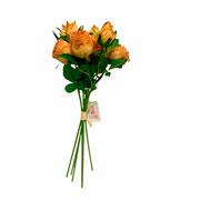 Buque de rosas ferrugem com botão artificial 36 cm