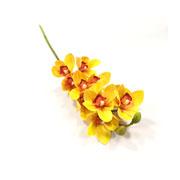 Orquídea amarelo artificial 73 cm