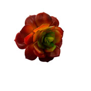 Planta artificial suculenta vermelha 09 cm