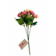 Buque mini artificial camelia pink 31 cm