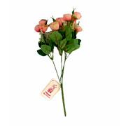 Buque mini artificial camelia rosa 31 cm