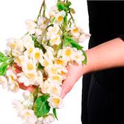 Flor pessegueiro artificial 99 cm