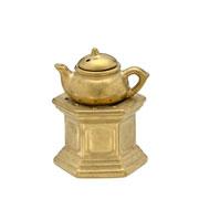 Difusor de aromas em cerâmica dourado 16 cm