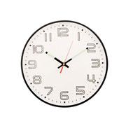 Relógio de parede redondo fluorescente 29,5 cm