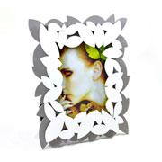 Porta Retrato de madeira folhas 10X15 cm